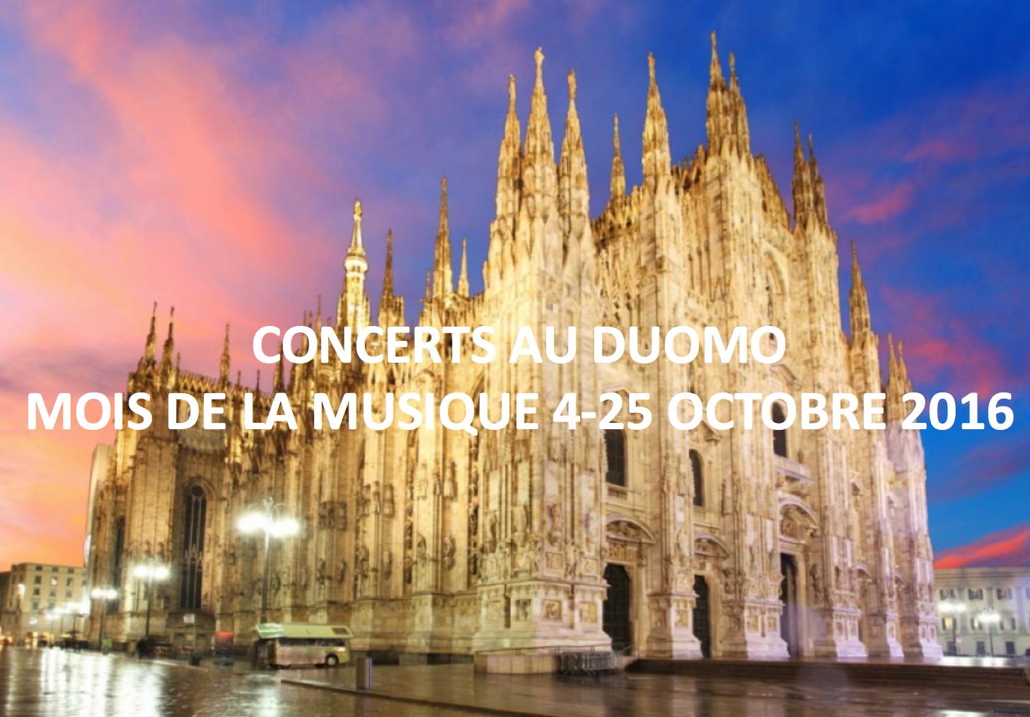 duomo musique concerts