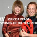 "Miuccia Prada élue ""Woman of the year 2016"" par Glamour"