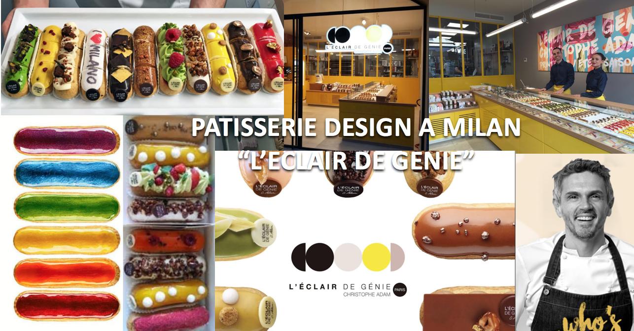 L'Eclair de Génie pâtisserie design à la française